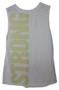 Old Navy NWT Old Navy Go-Dry Muscle Graphic Tank Top White Small Cotton Blend