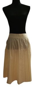 Prada Pleated Casual Spring Summer Skirt Yellow