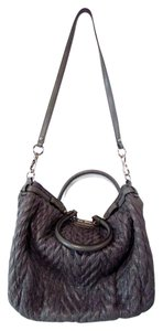 Coach Maidson Lindsey Quilted Tote in Gray