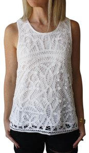 Joie Crocheted Top White