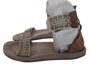 Teva White/Brown Sandals