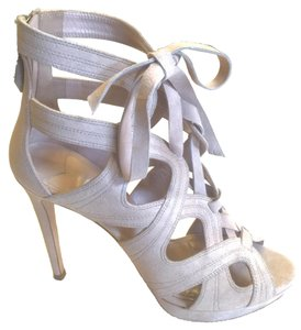 Miu Miu Gladiator Boot Zipper Bow Beige Pumps
