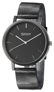 SKNY SKNY Men's SK1001 Black Genuine Leather Watch