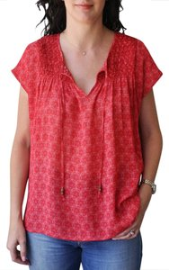 Sanctuary Clothing Printed Top Red