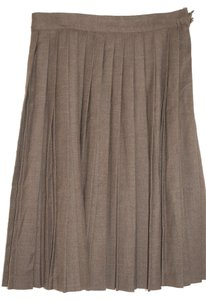 Vera da Pozzo Italian Skirt Black Brown
