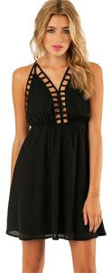 Tobi Halter Crisscross Strap Dress
