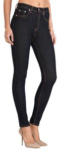 Rag & Bone Stretchy Skinny Cotton Jeggings-Dark Rinse