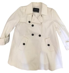 Club Monaco Button Detail A-line Trench Coat