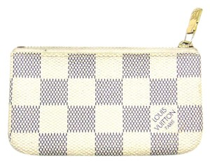 Louis Vuitton Damier Azur Canvas Leather Pochette Cles Credit Coin Purse