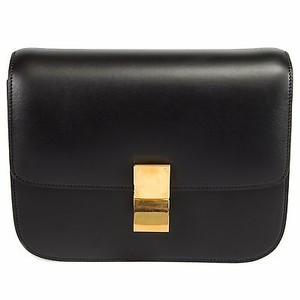 Céline Celine Box Calfskin Shoulder Bag