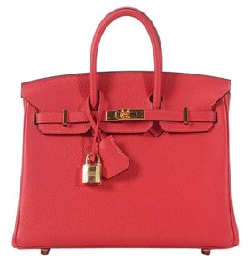 Hermès Red Rouge Pivone Birkin 25 Satchel
