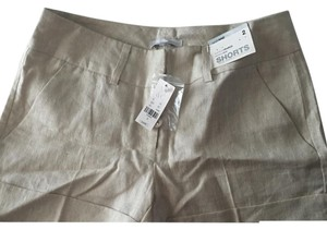 New York & Company Dress Shorts Cream with a silver tint