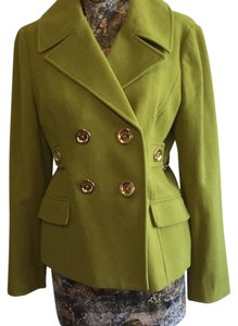 MICHAEL Michael Kors Gold Chain Double Breasted Pea Coat