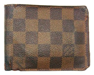 Louis Vuitton Damier Ebene Canvas Leather Multiple Bifold Wallet France