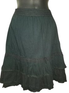 Cynthia Steffe Tiered Ruffle Lace Skirt Black
