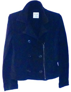 Old Navy Cotton Buttoned Zippered Black Jacket