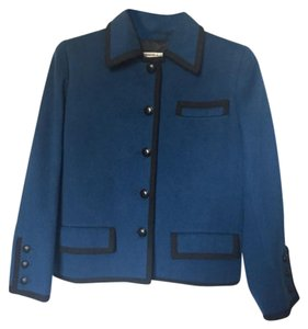 Saint Laurent Vintage Ysl Wool Blue Blazer