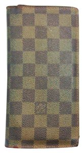 Louis Vuitton Damier Ebene Canvas Leather Brazza Clutch Wallet France