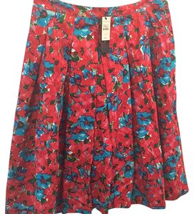 Talbots Skirt Red, pink, blue, green