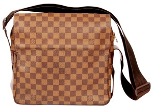 Louis Vuitton Damier Canvas Naviglio Cross Body Damier Ebene Messenger Bag