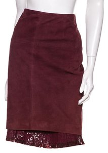 Michael Kors Skirt Maroon