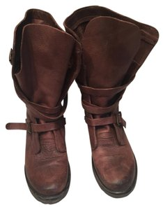 Steve Madden Buckle Brown Boots