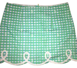 Lilly Pulitzer Mini Skirt Green Blue