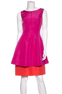 Oscar de la Renta short dress Pink & Orange on Tradesy