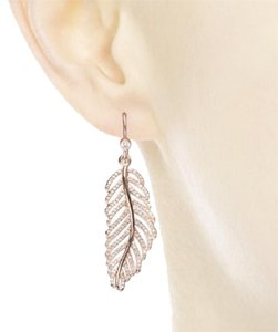 PANDORA Pandora Rose Fold Feather Earring