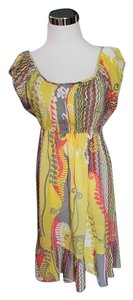 Funky People short dress Yellow Multi Color on Tradesy
