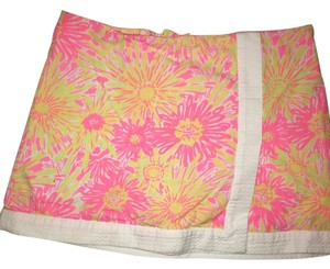 Lilly Pulitzer Mini Skirt Pink Yellow Orange