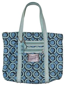Coach Poppy Large Tote in Blue