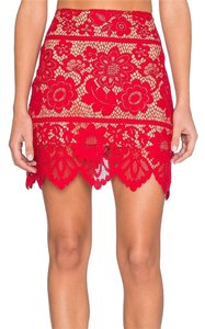 For Love & Lemons And Lace Skirt Red