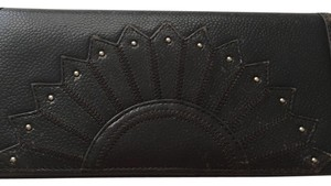 Cole Haan Cole Haan Brown Leather Studded Wallet