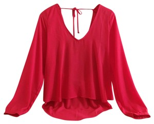 Nasty Gal Top Red