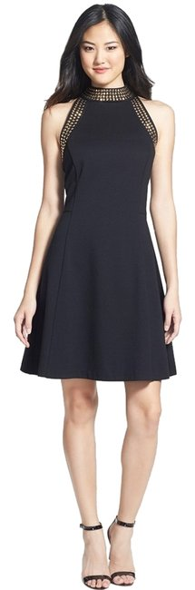 Preload https://item2.tradesy.com/images/michael-michael-kors-fit-and-flare-stud-trim-high-neck-short-cocktail-dress-size-2-xs-1934696-0-0.jpg?width=400&height=650