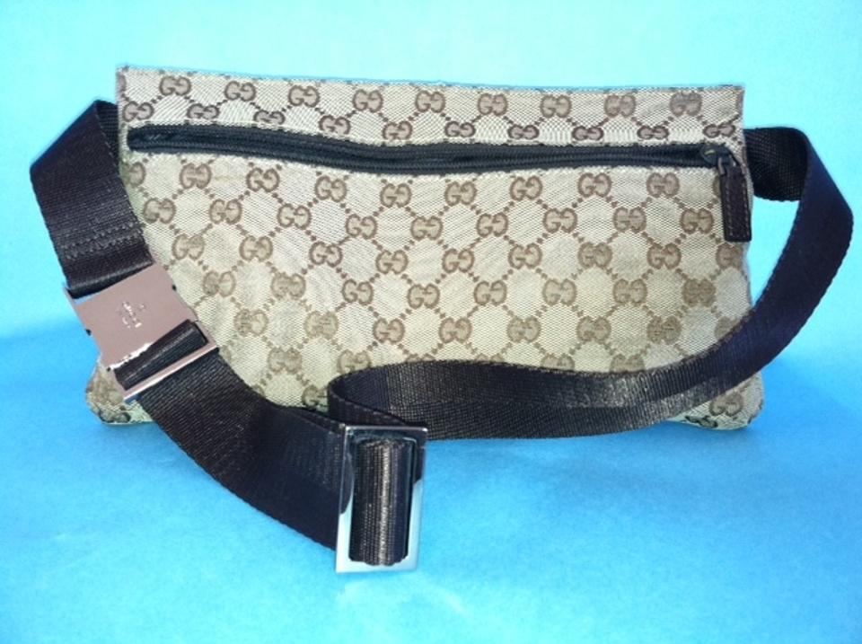 8b8e20243753a Gucci Family Pack Made In Italy Belt Fanny Pack Brown Monogram Cross ...