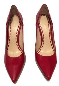 Enzo Angiolini Pointed Toe Patent Leather Leather Heel Red Pumps