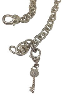 Judith Ripka JUDITH RIPKA KEY TO MY HEART LOCK CHAIN NECKLACE & ENHANCER