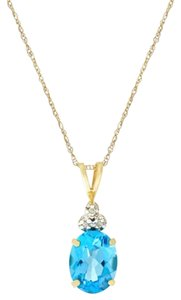 Macy's Topaz and Diamond Accent Pendant Necklace in 10k gold
