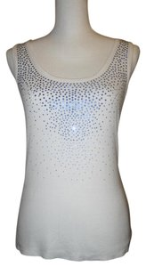 Calvin Klein T Shirt White with Blue Sequin Embellishment
