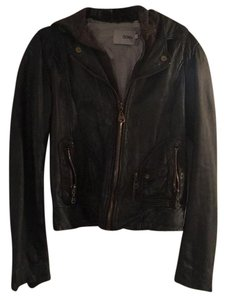 DOMA Leather Removable Hood Leather Jacket