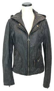 DOMA Removable Hood Leather Jacket