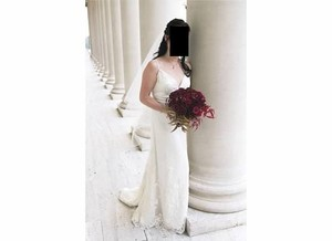 Melissa Sweet Ivory French Lace Silk Dreamy and Romantic Feminine Wedding Dress Size 6 (S)