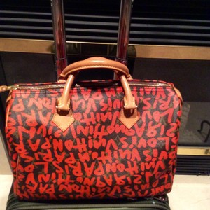 Louis Vuitton Lv Speedy Stephen Sprouse Special Edition Satchel in Orange