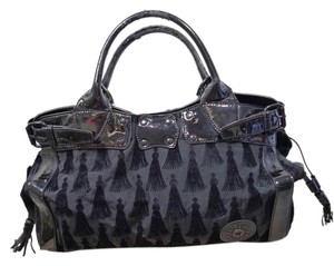 Kipling Textured Satchel in BLACK