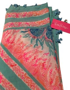 Lilly Pulitzer Pewter Pink Sole Sea Sienna Wrap
