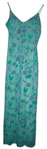 Turquoise Blue and Purple Maxi Dress by Rhapsody Velvet Burnout Boho Fairy Gypsy Hippie