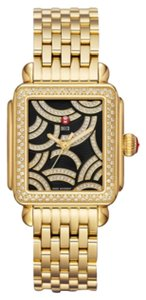 Michele Nwt Michele Deco Art gold & Diamond watch $3600