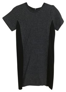 J.Crew Houndstooth Leather Dress